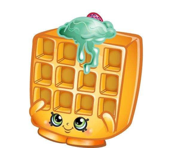 Best 443 Shopkins images on Pinterest   Shopkins ... Cartoon Waffle With Face