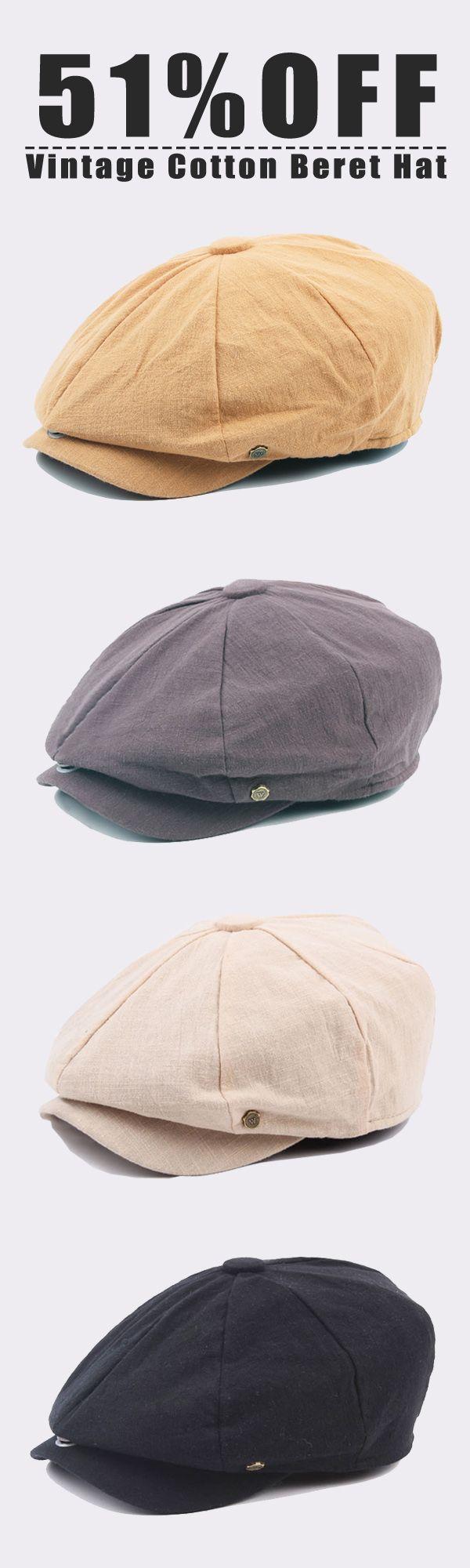 51%OFF&Free shipping. Men's Cap, Vintage Cotton Beret Hats, Casual Solid Color Painter Forward Caps. Color:Dark Grey, Light Grey, Orange, Black, Beige, Navy. Shop now~