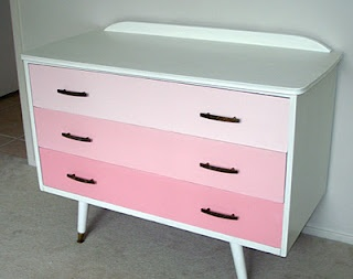 Pretty ombre dresser (from an old trashed dressser)