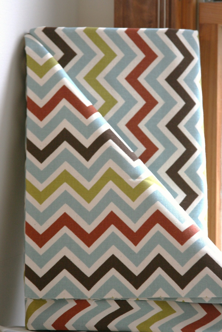 Village/Natural Chevron Home Decor Weight Fabric from Premier Prints - ONE YARD. $11.00, via Etsy.