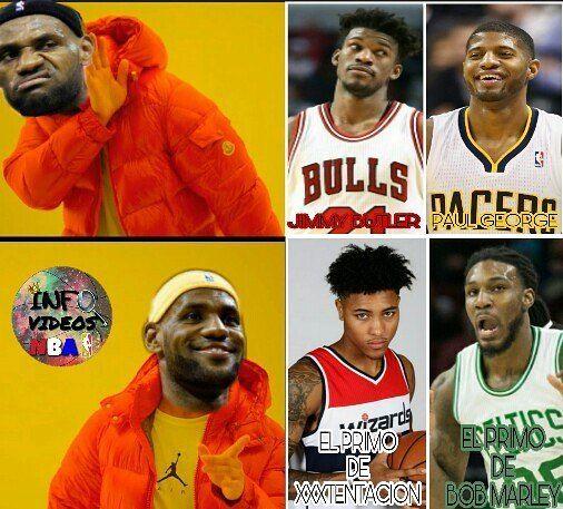 •Esta puede ser la competencia de aleros de LeBron en el Este. El primo de XXXTENTACION Y EL DE BOB MARLEY ������ Eso si, sin contar a 'The Greek Freak'�� #EsSoloHumor ----- #kingjames#lebronjames#lebron#james#cavs#cavaliers#cleveland#champions#irving#butler#bulls#george#pg#pacerd#timberwolves#okc#nba#celtics#wizards#thisiswhyweplay#humor#ballin#memedeportes#meme#comedy#post#edit http://quotags.net/ipost/1550867089877981392/?code=BWFyWbCBVjQ