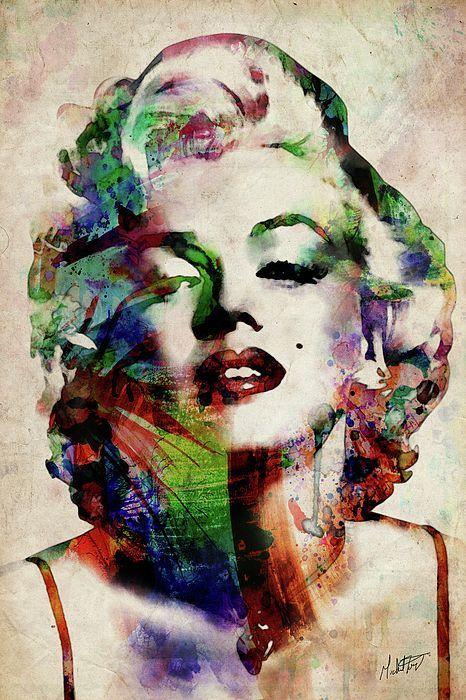 Marilyn Digital Art - Marilyn by Michael Tompsett