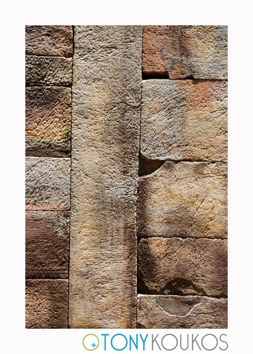thailand, bricks, stone, wall, chipped, colourful, old, porous