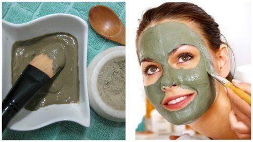 Masque vert pour éliminer les points noirs, les boutons et les imperfections