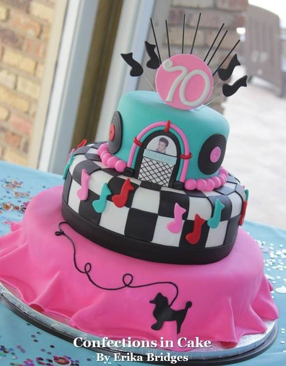 50 S Themed Poodle Skirt Cake Themed Birthday Cakes