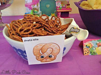 Pretzelle Shopkins for a Shopkins Birthday Party on a Budget! #Shopkins #ShopkinsBirthdayParty #Pretzelle