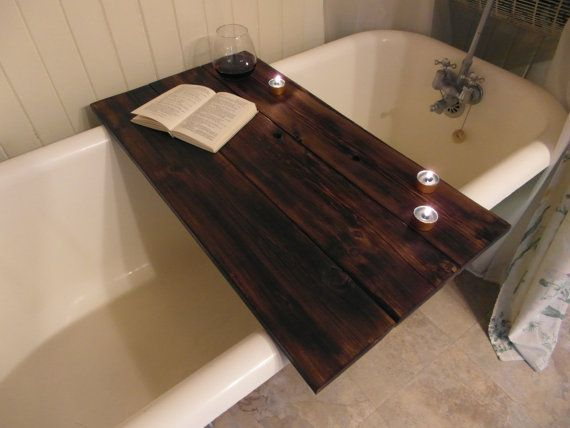 custom made reclaimed wood bathtub caddy by. Black Bedroom Furniture Sets. Home Design Ideas