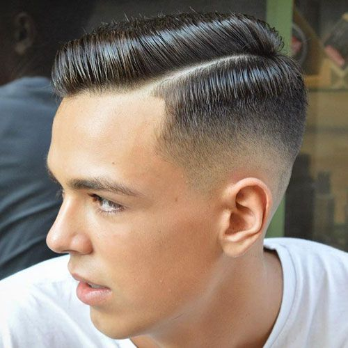 Fashionable Men's Haircuts :   Hard Side Part   High Taper Fade    -Read More –   - #Haircuts