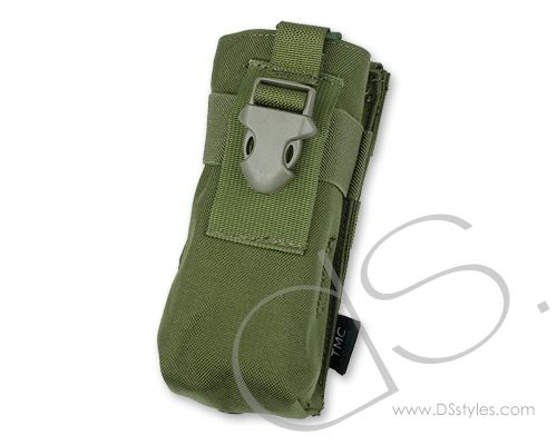TMC Cordura MOLLE Accessory Radio Pouch for Tactical Vest - OD Green                http://www.dsstyles.com/product/tmc-cordura-molle-accessory-radio-pouch-for-tactical-vest---od-green
