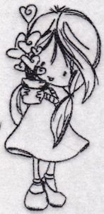 Embroidery | Free Machine Embroidery Designs | Bunnycup Embroidery | Wryn Redwork $4