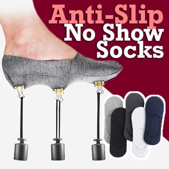 Anti-Slip Silicone No Show Socks (5