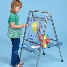 Height Adjustable Floor Standing Toddler Easel