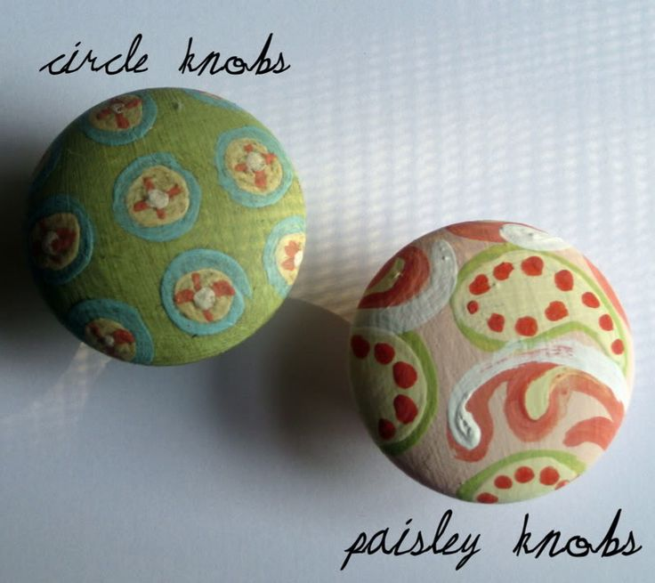 Hand Painted Cabinet Knobs    What A Great Idea!