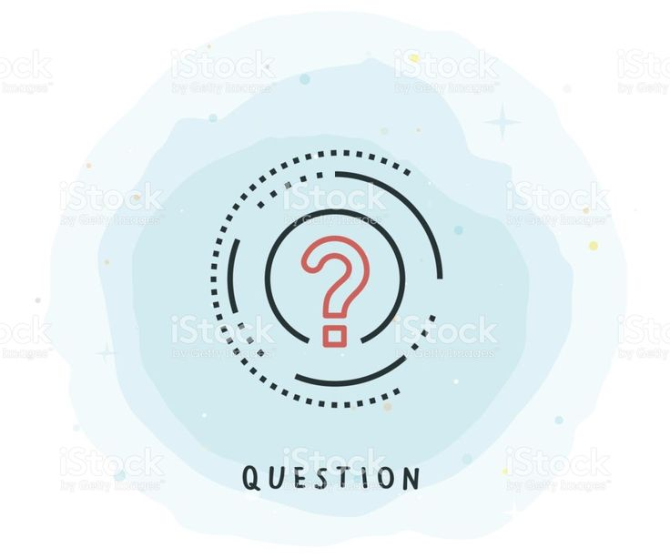 Question mark Icon with Watercolor background