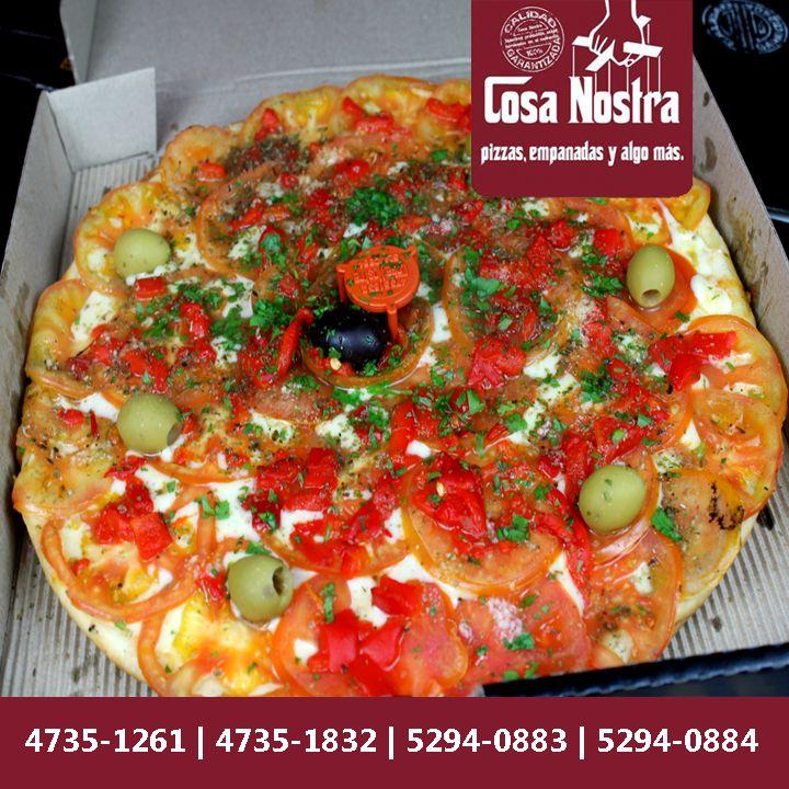 ¿Y la cena? ¡Fácil! ¡Resolvelo en Cosa Nostra con una de nuestras pizzas! Y si no querés caminar, pregunta por nuestro delivery ;)