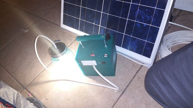 Picture of solar camping generator