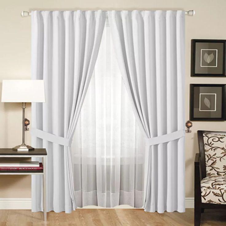 juego de cortinas doble blackout textilvoile