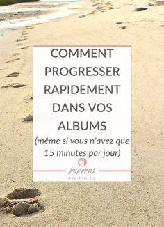 Vous n'avez pas assez de temps pour scrapper? Pourtant, 15 minutes peuvent suffire à faire avancer un album. Cela vous paraît impossible ? Découvrez quelle méthode appliquer pour progresser dans vos albums sans vous décourager. Cliquez pour en savoir plus!