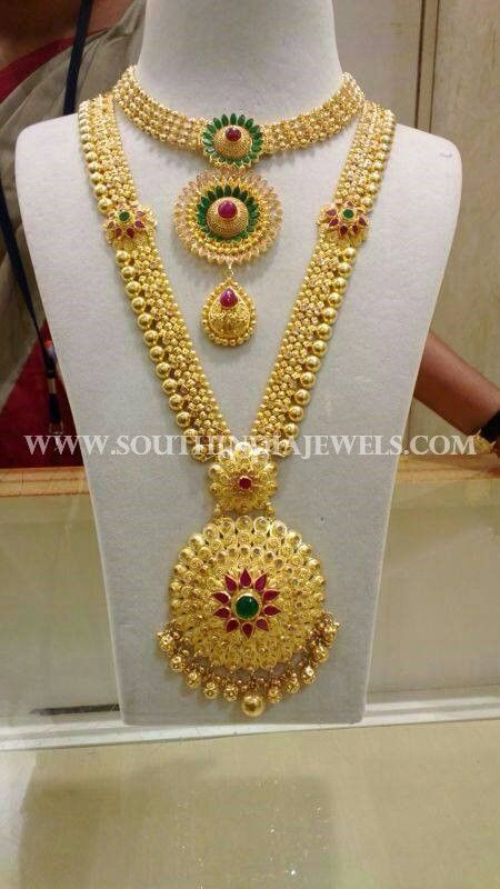 Bridal Gold Necklace And Haram From Cmr Jewels Gold