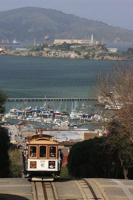 Alcatraz Island off San Francisco. Best to tour this at night. Eerie!  Also San Fran skyline is gorgeous on boat ride.