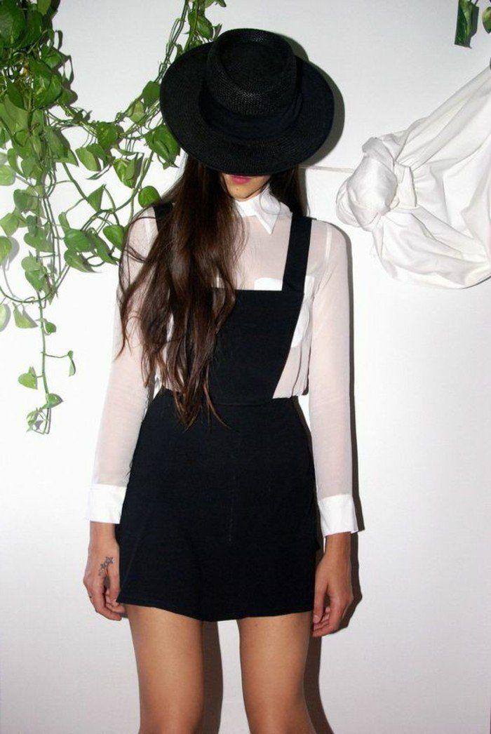 Belle idée pour votre tenue avec salopette jupe