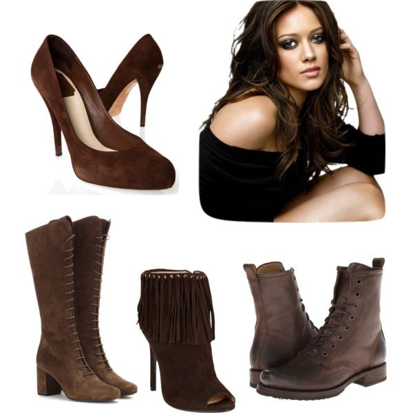 Dark brown shoes for brunettes
