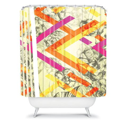 Pattern State Chevy Rose Shower Curtain #collage #home #decor #bright #colorful #floral #unique