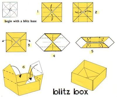 how to do a origami box 2