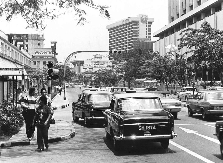 Singapore - Orchard Road in 1971 as it starts to get built up.