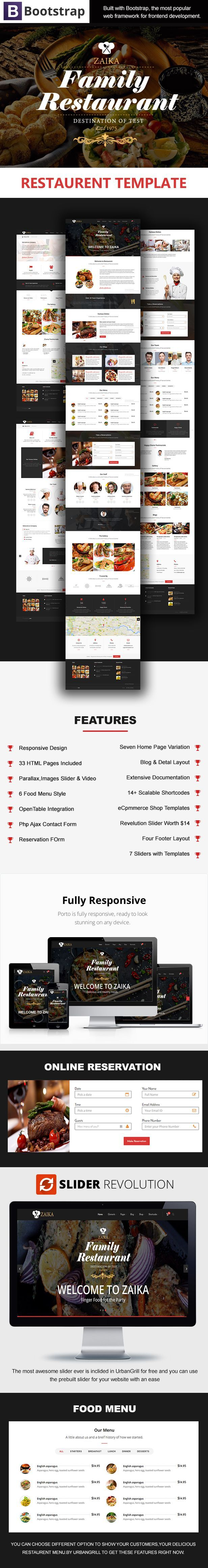 Zaika is an amazing clean restaurant Bootstrap template. With the most modern…
