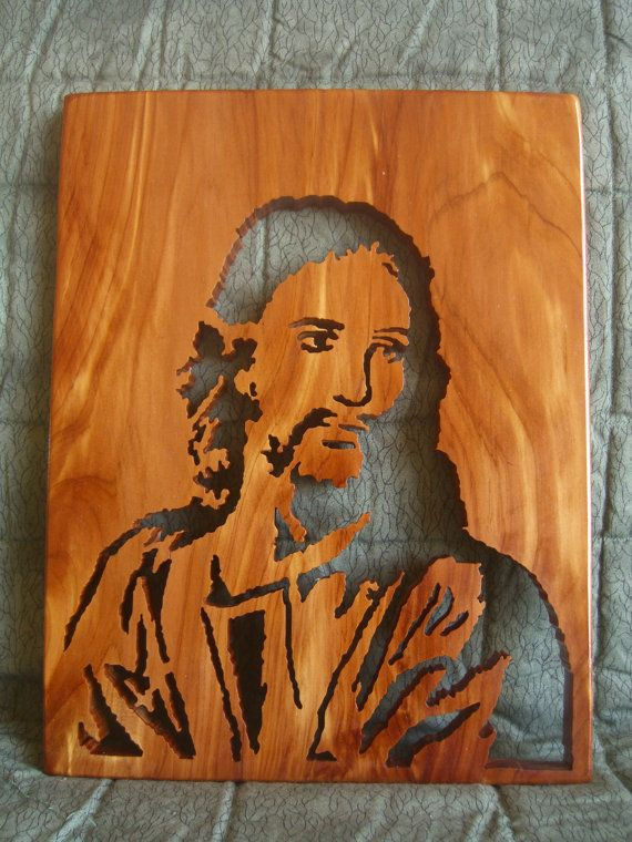 jesus wood carving