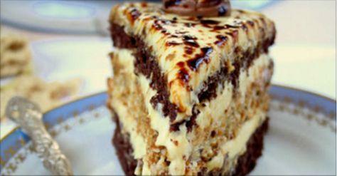 """Tortul """"Halva"""" este format din blaturi gingașe de pandișpan pătrunse cu nemaipomenit de gustoasa cremă de halva. Foarte neobișnuit și plin de savoare! INGREDIENTE: Pentru pandișpanul cu pudră de cacao: -5 ouă; -¾ pahar de zahăr; -2/3 pahar de făină; -1/3 ceașcă de pudră de cacao. Pentru blatul cu susan: -4 albușuri de ou; -½ pahar de zahăr; -½ lingură de amidon din cartofi; -½ lingură de făină; -½ linguriță de praf de copt; -150 g de semințe de susan. Pentru crema de halva: -500 ml ..."""