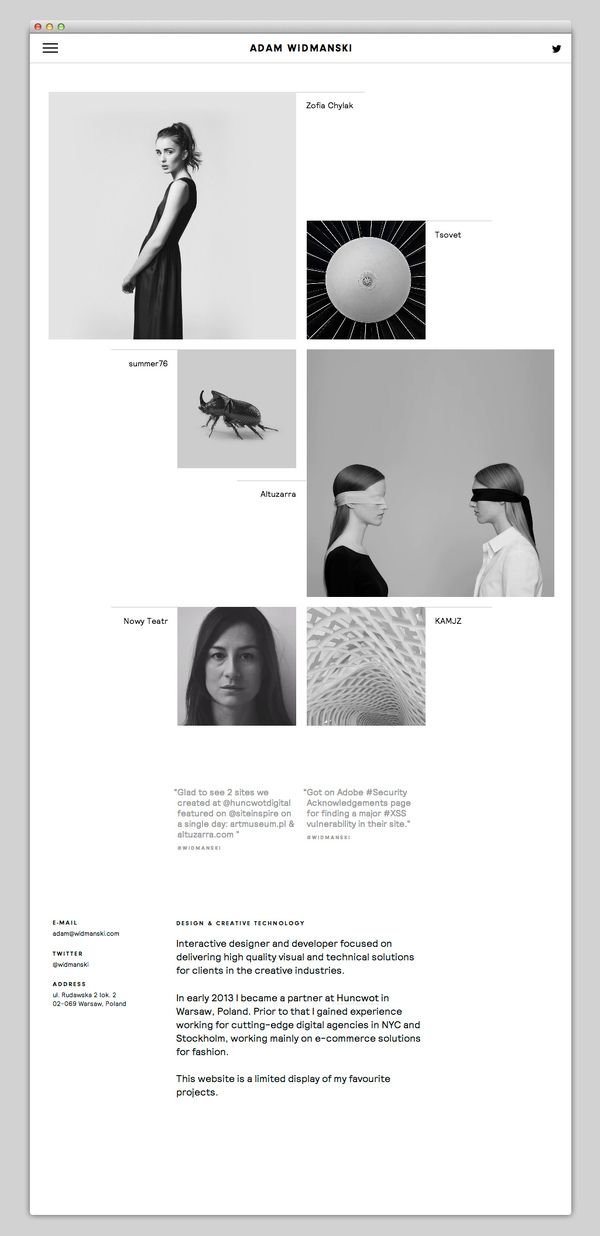 :: Adam Widmanski- sleek and minimal interactive design ::