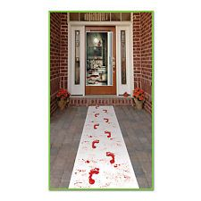 Bloody footprints floor runner decoration Halloween / horror party 9.99  ebay