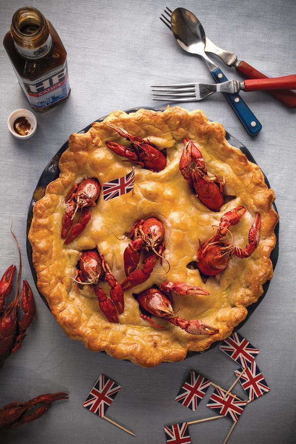 In this whimsically constructed pie from restaurateur and cookbook author Mark Hix, rabbit and sweet crawfish form a thick, creamy, cider-rich sauce under a biscuitlike beef suet crust.