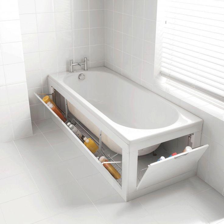 Tablier de baignoire mobile avec paniers de rangements