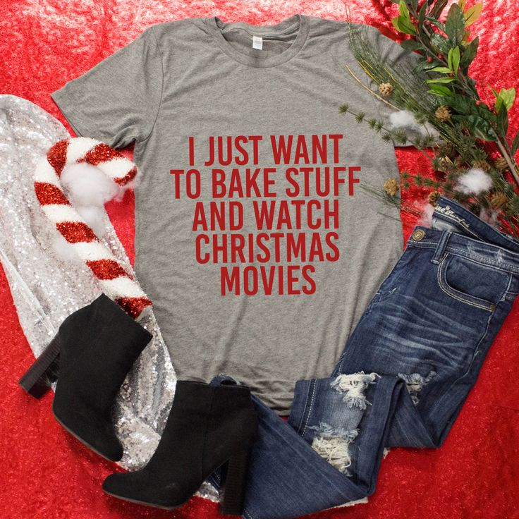 Bake Stuff And Watch Christmas Movies Graphic Tee - The Pink Lily