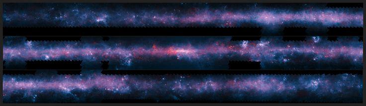 Uma nova espetacular imagem da Via Láctea foi divulgada para marcar o término do rastreio ATLASGAL (APEX Telescope Large Area Survey of the GALaxy). O telescópio APEX, instalado no Chile, mapeou pela primeira vez a área total do plano galáctico visível a partir do hemisfério sul através do submilímetro a região do espectro eletromagnético entre a radiação infravermelha e as ondas de rádio com mais detalhes do que obtido em rastreios recentes realizados a partir do espaço.
