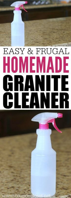 How to clean granite countertops for less with this easy to make Homemade granite cleaner.