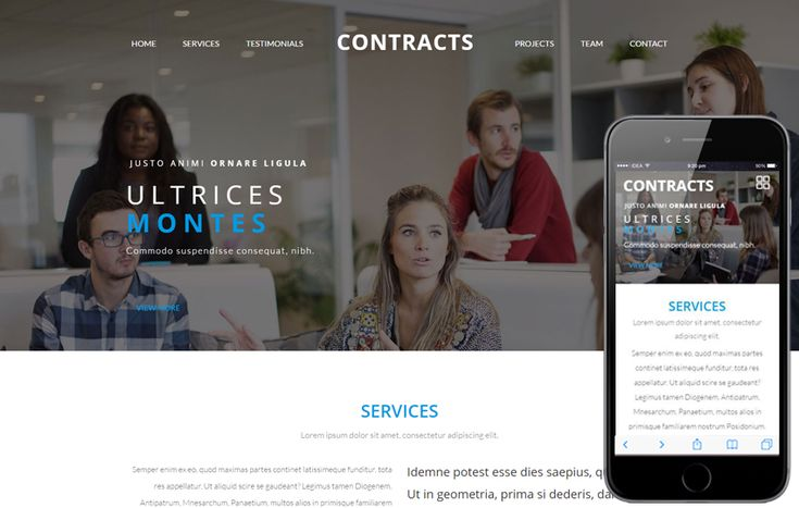 Contracts a Corporate Business Category Flat Bootstrap