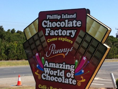 Phillip Island Road Trip. Panny's Amazing World of Chocolate. Entry to the cafe and factory direct retail store is free, as too is your first sample. Admission charges $15 for the half hour attractions. Expensive.