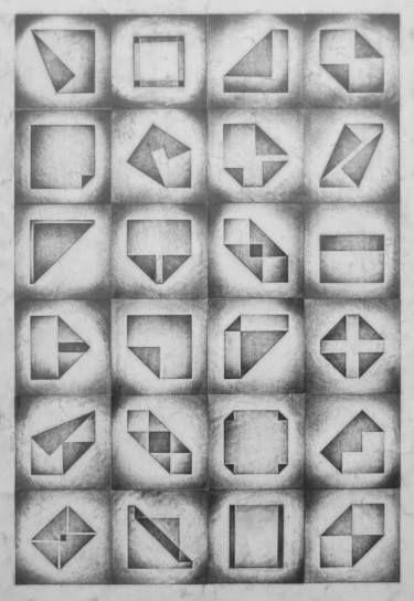 "Saatchi Art Artist Nico Kok; Drawing, ""Folded squares 1"" #art"