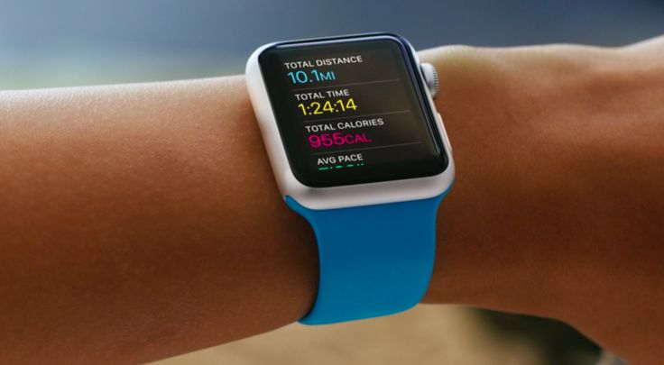 Apple watch workout interface