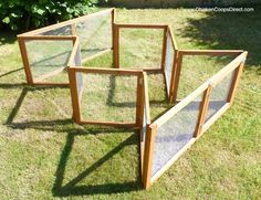 Folding mobile chicken run from chickencoopsdirect. I would love to attempt to make one of these!