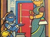 Young Krishna and Mother Yashoda