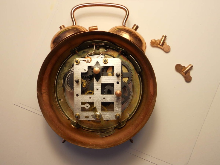 Old mechanical COPPER CLOCK
