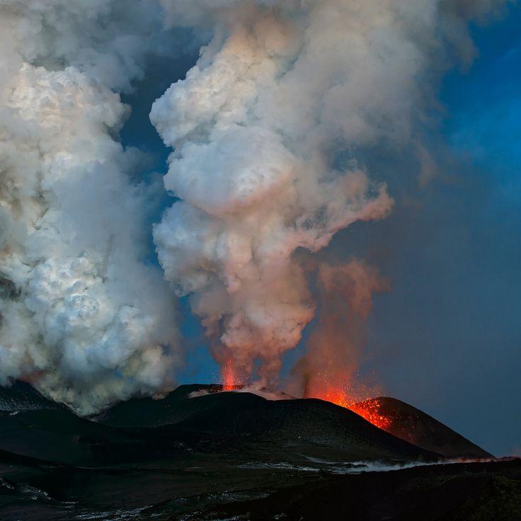 Plosky Tolbachik volcano eruption, Kamchatka, Russia