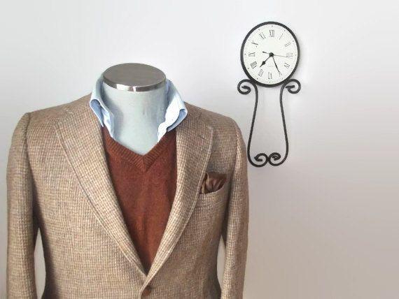 1960s Vintage HARRIS TWEED Mens Suit Jacket / 100% Virgin Scottish Wool Sport Coat / Size 40R / Medium / Med / M / 60s / Tailored in USA
