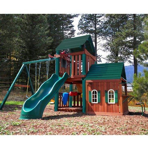 Walmart Swing Sets Swing N Slide Summerville Playhouse Wood Complete Play Set With Images