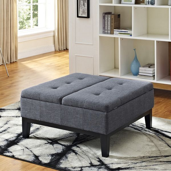 WYNDENHALL Lancaster Square Coffee Table Ottoman and Split-lift Lid